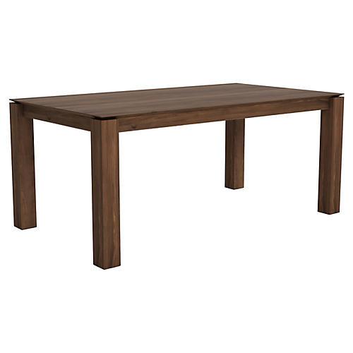 Slice Extension Dining Table, Walnut