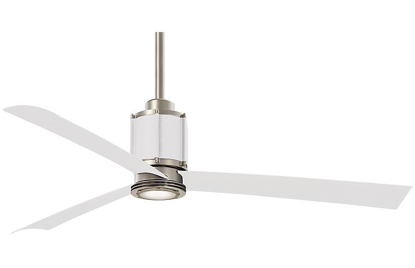 Gear LED Ceiling Fan, White
