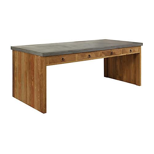 Par Concrete Dining Table, Gray