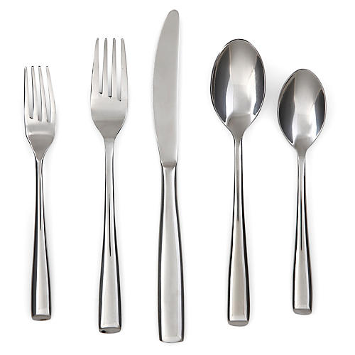20-Pc Ings Flatware Set, Silver