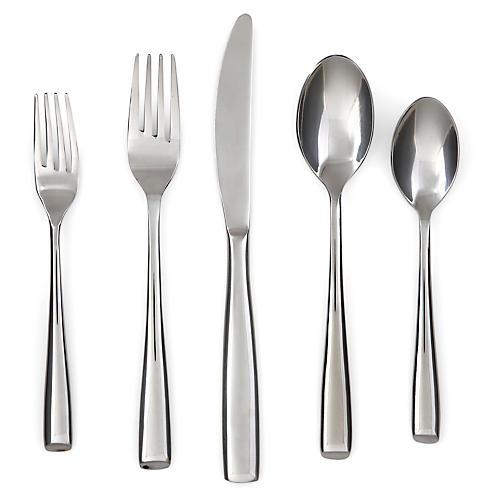 20-Pc Ings Flatware Set, Silver