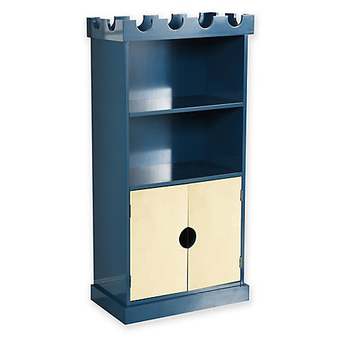 Ellis Castle Bookcase, Blue