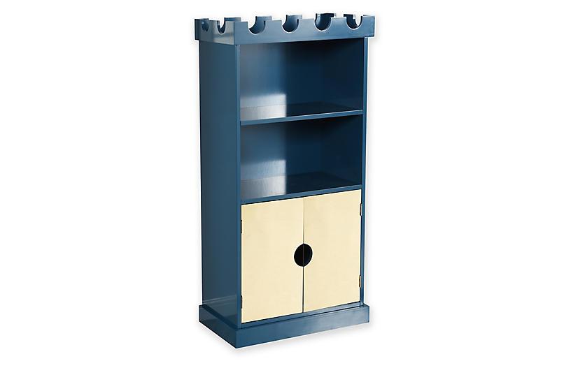 Henry Castle Bookcase, Blue