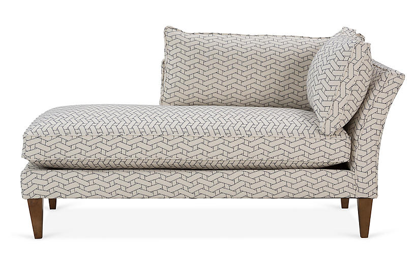 Kelsey Left-Facing Chaise, Midnight Geo