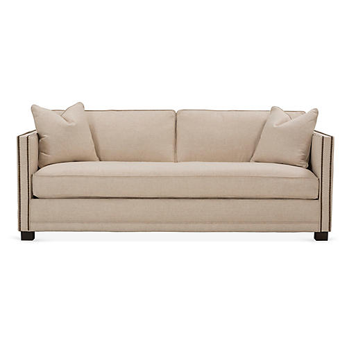 Shaw Bench-Seat Sofa, Natural