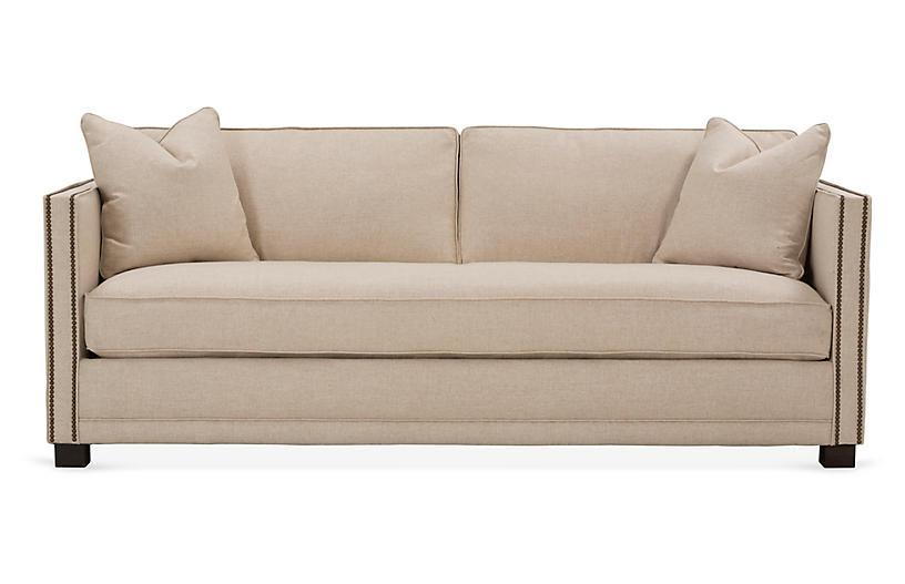 Shaw Bench-Seat Sofa, Natural