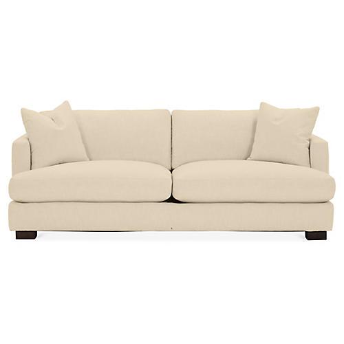 Hudson Sofa, Bisque Crypton