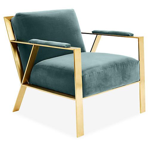 Bergen Accent Chair, Sage Crypton