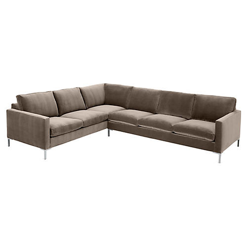 Amia Left-Facing Sectional, Café Crypton