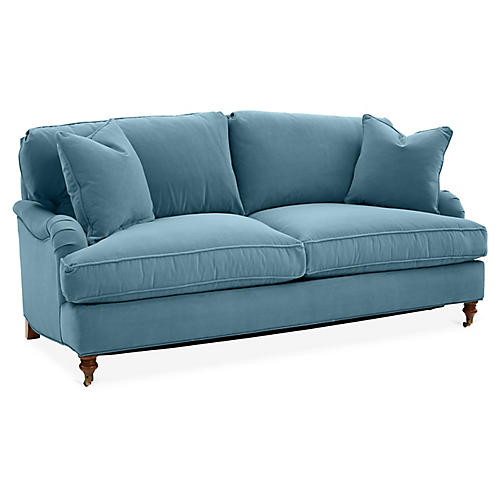 Brooke Sofa, Colonial Blue Crypton