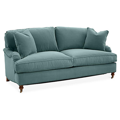 Brooke Sleeper Sofa, Sage Crypton