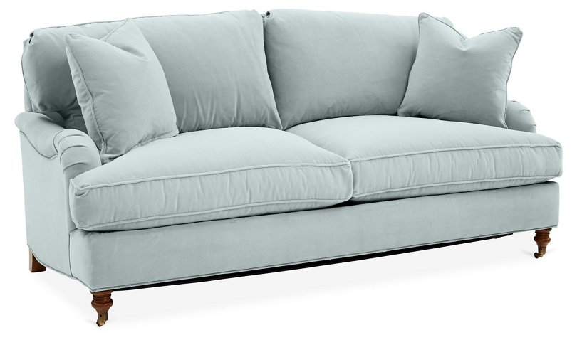 Brooke 2-Seat Sofa, Seafoam Crypton - Sofas & Sectionals - Furniture ...