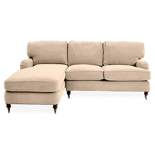 Brooke Left-Facing Sectional, Bisque Crypton