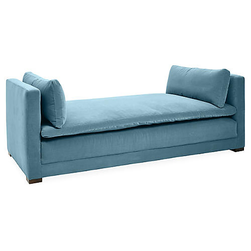 Ellice Daybed, Colonial Blue Velvet