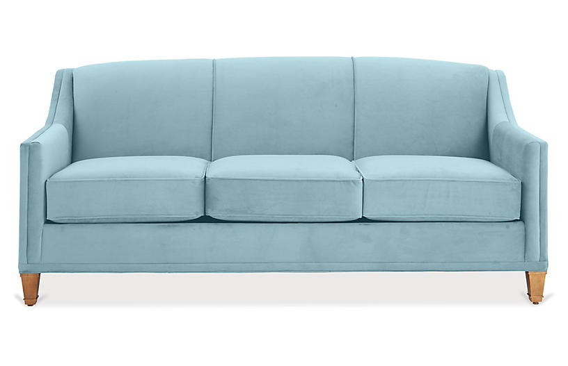 Erin Sofa, Light Blue Crypton