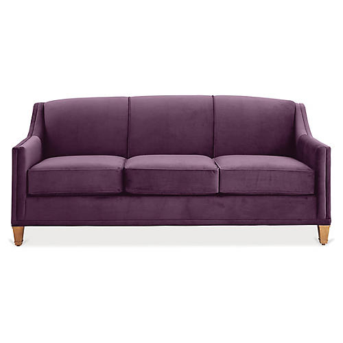Erin Sleeper Sofa, Fig Velvet