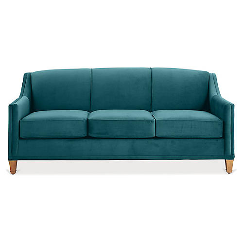 Erin Sleeper Sofa, Peacock Crypton