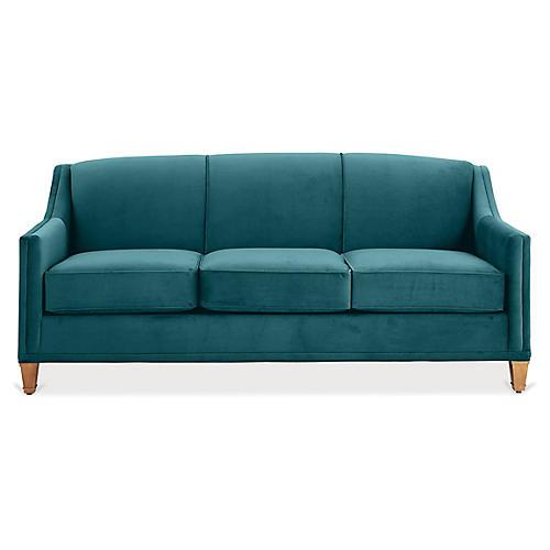Erin Sleeper Sofa, Peacock Crypton