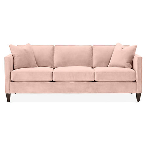Cecilia Sleeper Sofa, Blush Pink Velvet