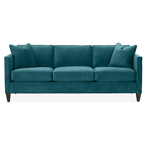 Cecilia Sleeper Sofa, Peacock Crypton