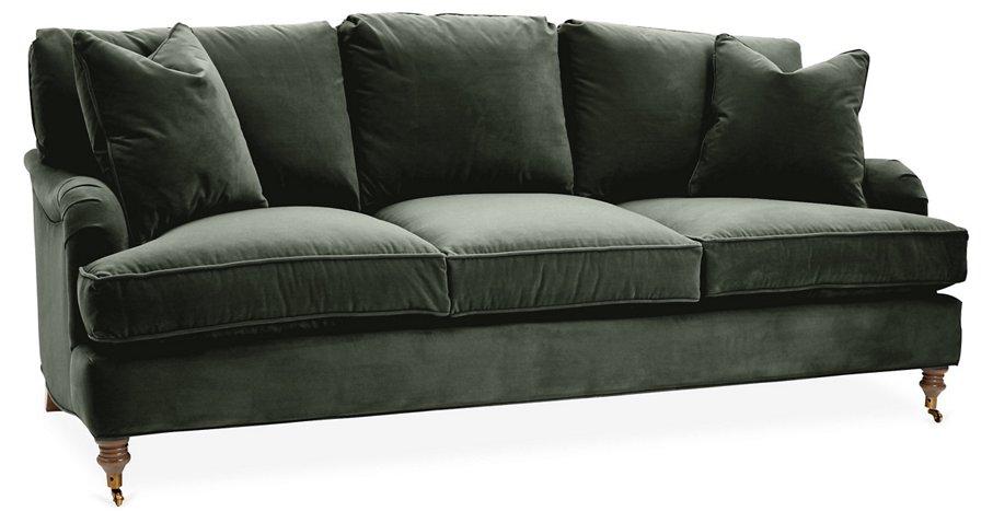 Seat Sofa Forest Green Velvet Sofas