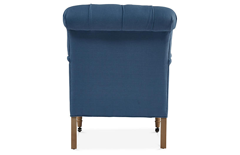 Groovy Saintil Chair Royal Blue Linen Pdpeps Interior Chair Design Pdpepsorg