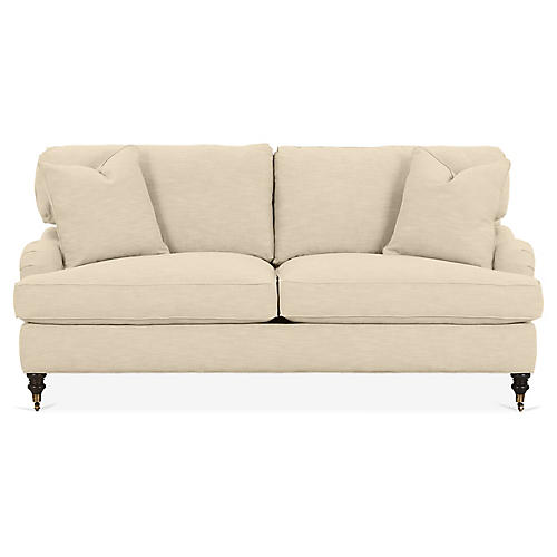 Brooke Sofa, Flax Crypton
