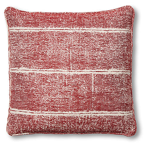 Adele 20x20 Pillow, Red/White