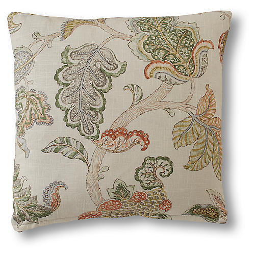 Nora Pillow, Green Linen