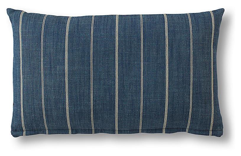 Tess 15x25 Lumbar Pillow, Indigo