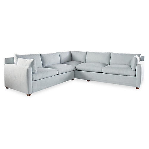 Saunders Sectional, Ice Blue