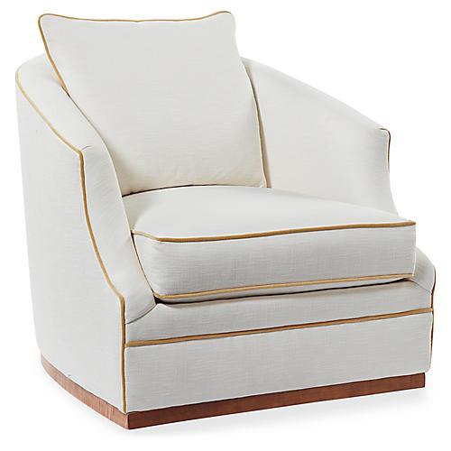 Annie Swivel Chair, Ivory