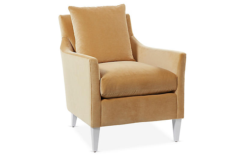 Ines Accent Chair, Gold