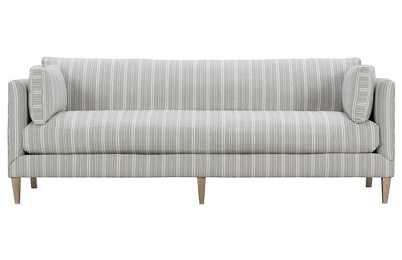 Camila Wide Stripe Sofa