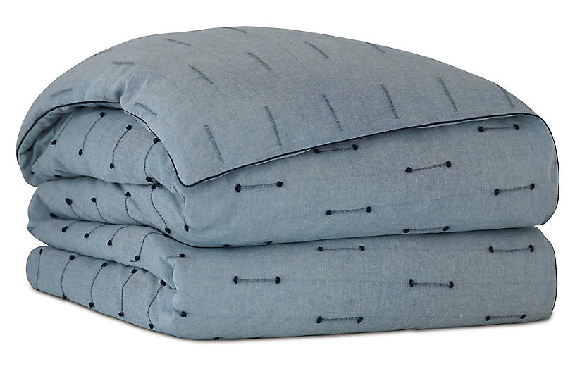 Lodi Fil Coupe Duvet Cover, Blue