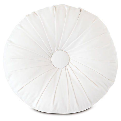 Libby Outdoor Tambourine Pillow, White