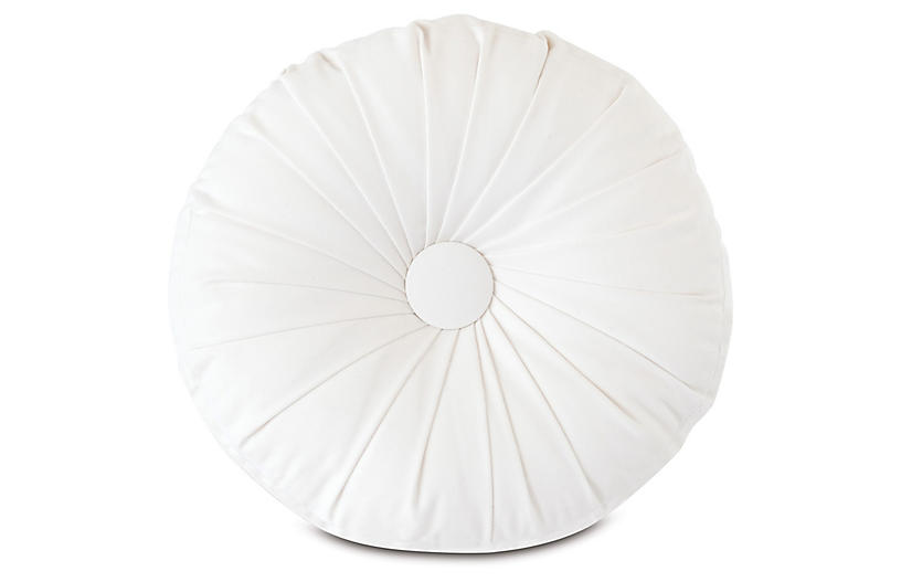 Libby Tambourine Pillow, White