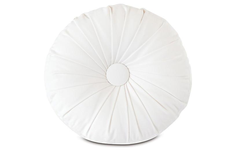 Libby Tambourine Pillow, White