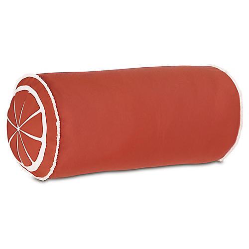 Citrus 9x18 Outdoor Bolster Pillow, Orange