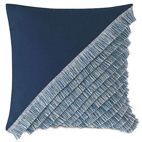 Mila 20x20 Outdoor Pillow, Indigo