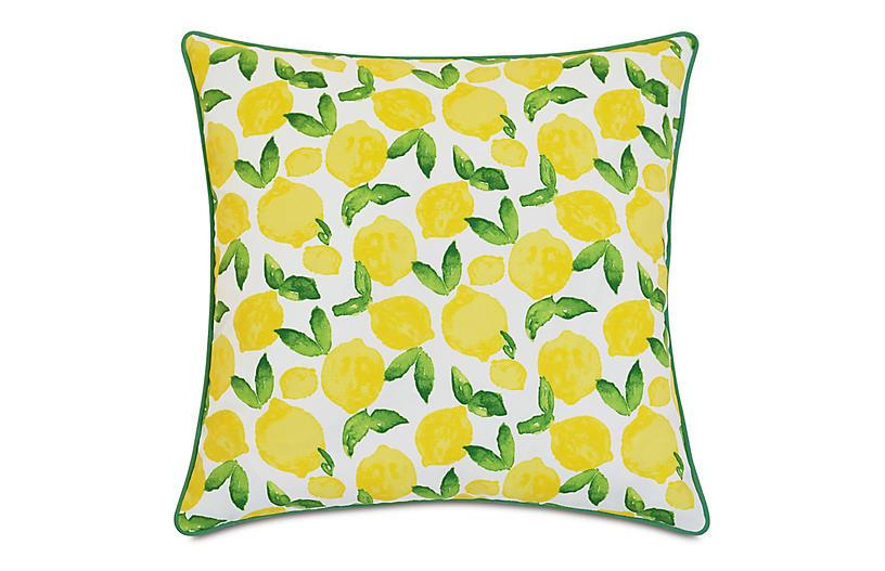 Benita 20x20 Outdoor Pillow, Lemons