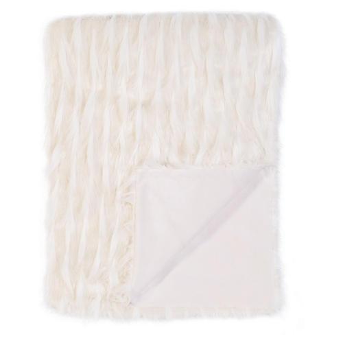 Jadis Luxe Faux-Fur Throw, White