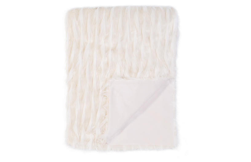 Luxe Blend Throw, White