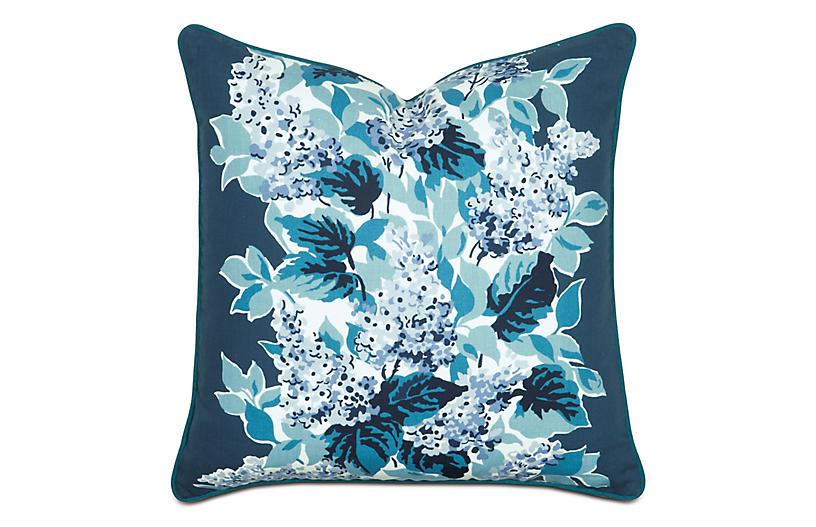 Lacecap Floral Sham, Blue