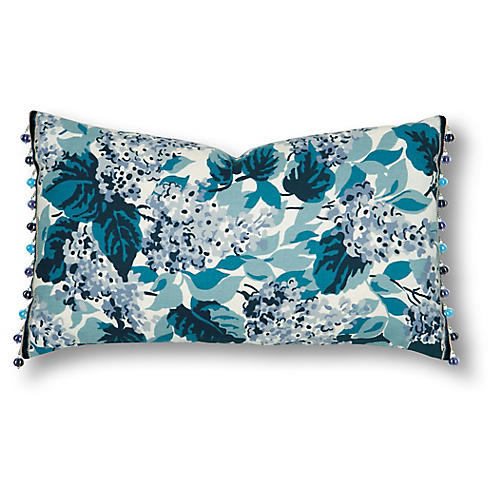Ava 15x26 Pillow, Blue/White