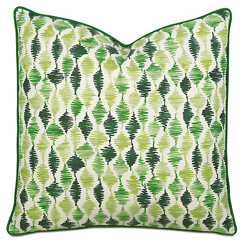Tropical Dreams Extra Euro Sham, Green
