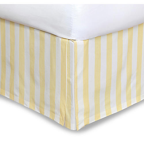 Pineapple Bobble Bed Skirt, Yellow/White