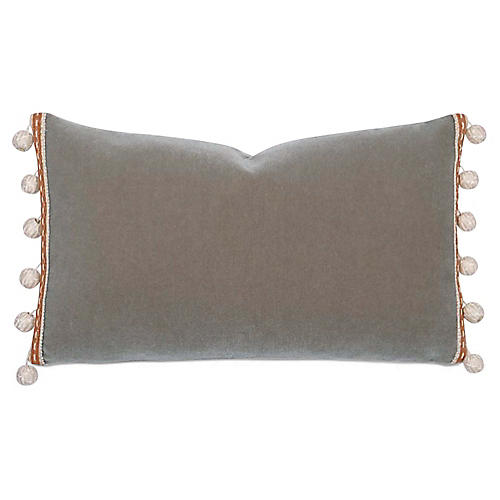 Berkman 13x22 Lumbar Pillow, Warm Gray