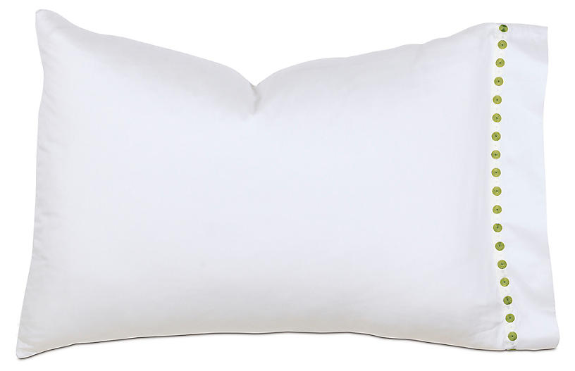Tivoli Pillowcase, White/Lime