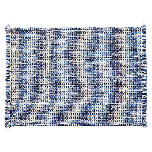 S/4 Twiggy Place Mats, Blue